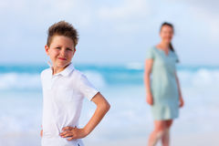 Mother and son on vacation Royalty Free Stock Photography