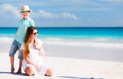 Mother and son on vacation Stock Image