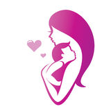 Mother and son. Vector symbol vector illustration