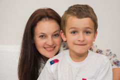 Mother and son. Very happy Stock Image