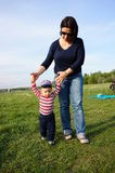 Mother and son walk Stock Image