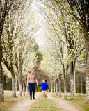 Mother and son walking hand in hand at park Royalty Free Stock Photography