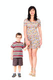 Mother and son walking in summer Stock Image