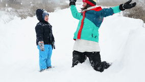 Mother and Son in Wintertime Royalty Free Stock Photos