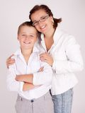 Mother and Son. A young mother and her son all Stock Photos