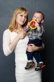 mother sonen Royaltyfri Foto