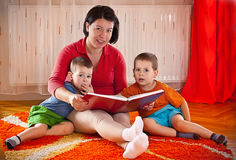 Mother with sons Stock Photos