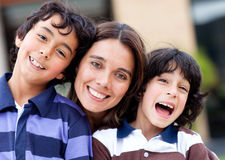 Mother with sons Stock Photography