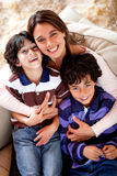 Mother and sons Stock Photos