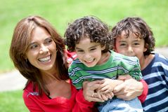 Mother and sons Royalty Free Stock Photography