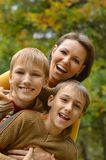 Mother and sons Royalty Free Stock Image