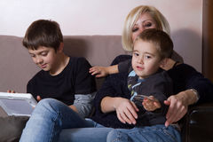 Mother and sons Stock Image