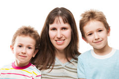 Mother and sons Royalty Free Stock Photos