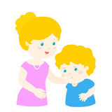 Mother soothes crying son  Royalty Free Stock Photo