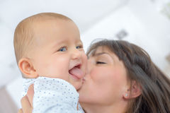 Mother spending quality time with baby Royalty Free Stock Images