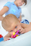 Mother spending quality time with baby Royalty Free Stock Photo