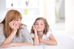 Mother spending time with daughter Stock Image