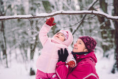 Mother spending time with her little daughter outdoors Stock Photography