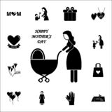 mother with a stroller icon. Mother's Day icons universal set for web and mobile royalty free illustration