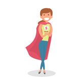 Mother Super hero. Mom hero isolated. Vector Illustration. Stock Photography