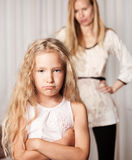 Mother swears by daughter Royalty Free Stock Photo