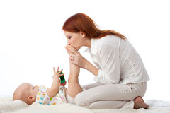 Mother with sweet small baby. Royalty Free Stock Photography