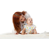 Mother with sweet small baby. Royalty Free Stock Images