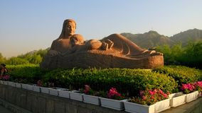 mother statue of the yellow river stock photography