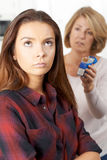 Mother Talking To Teenage Daughter About Dangers Of Smoking Royalty Free Stock Photo