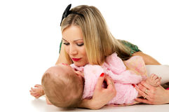 Mother talks to the child Stock Photography