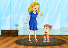 Mother teaching her child a lesson Royalty Free Stock Photos