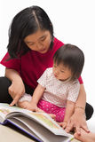 Mother teaching her little girl Royalty Free Stock Images