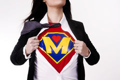Mother Tears Clothing Revealing Superhero Uniform Flight Suit Royalty Free Stock Photo