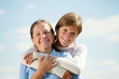 Mother with teen daughter Stock Photography