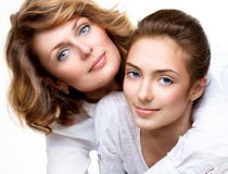 Mother and Teen Daughter Stock Image