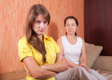 Mother and teen daughter having quarrel Royalty Free Stock Photography