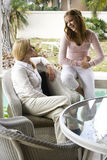 Mother and teen daughter talking Royalty Free Stock Images