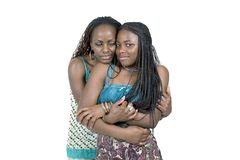 Mother and Teen dughter. African American mother and teen dughter Royalty Free Stock Image