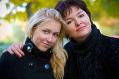 Mother and teenage daughter Stock Image