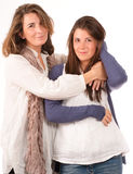 Mother and teenage daughter Royalty Free Stock Image