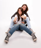 Mother and teenage daughter playing around Stock Photography