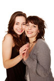 Mother and teenage daughter together. Happy family. royalty free stock image