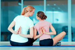 Mother and teenage girl at sports club Stock Photography