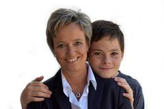Mother and teenage son Stock Image