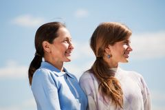Mother with teenager daughter Royalty Free Stock Image