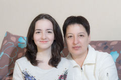 Mother with teenager daughter Royalty Free Stock Images