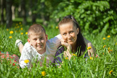 Mother and teenager son Royalty Free Stock Image