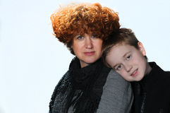 Mother and teenager son Royalty Free Stock Images