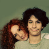 Mother and teenager son Royalty Free Stock Photo