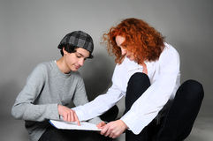 Mother and teenager son Stock Image